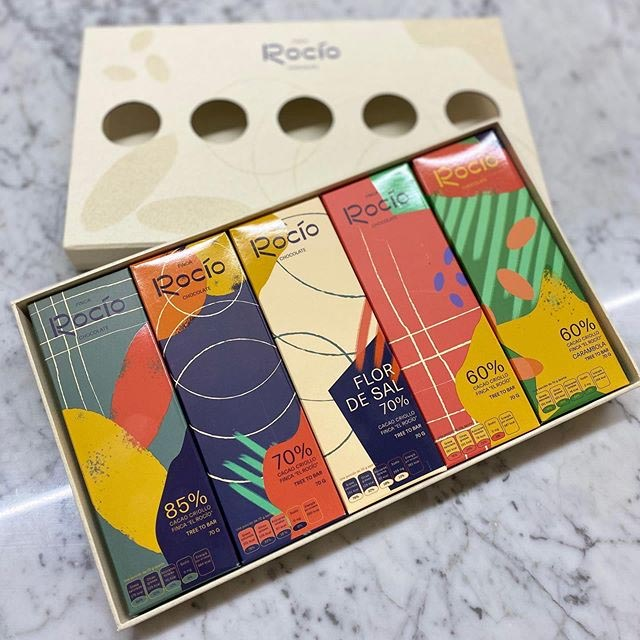 Muestra de los productos Chocolates Finca Rocío