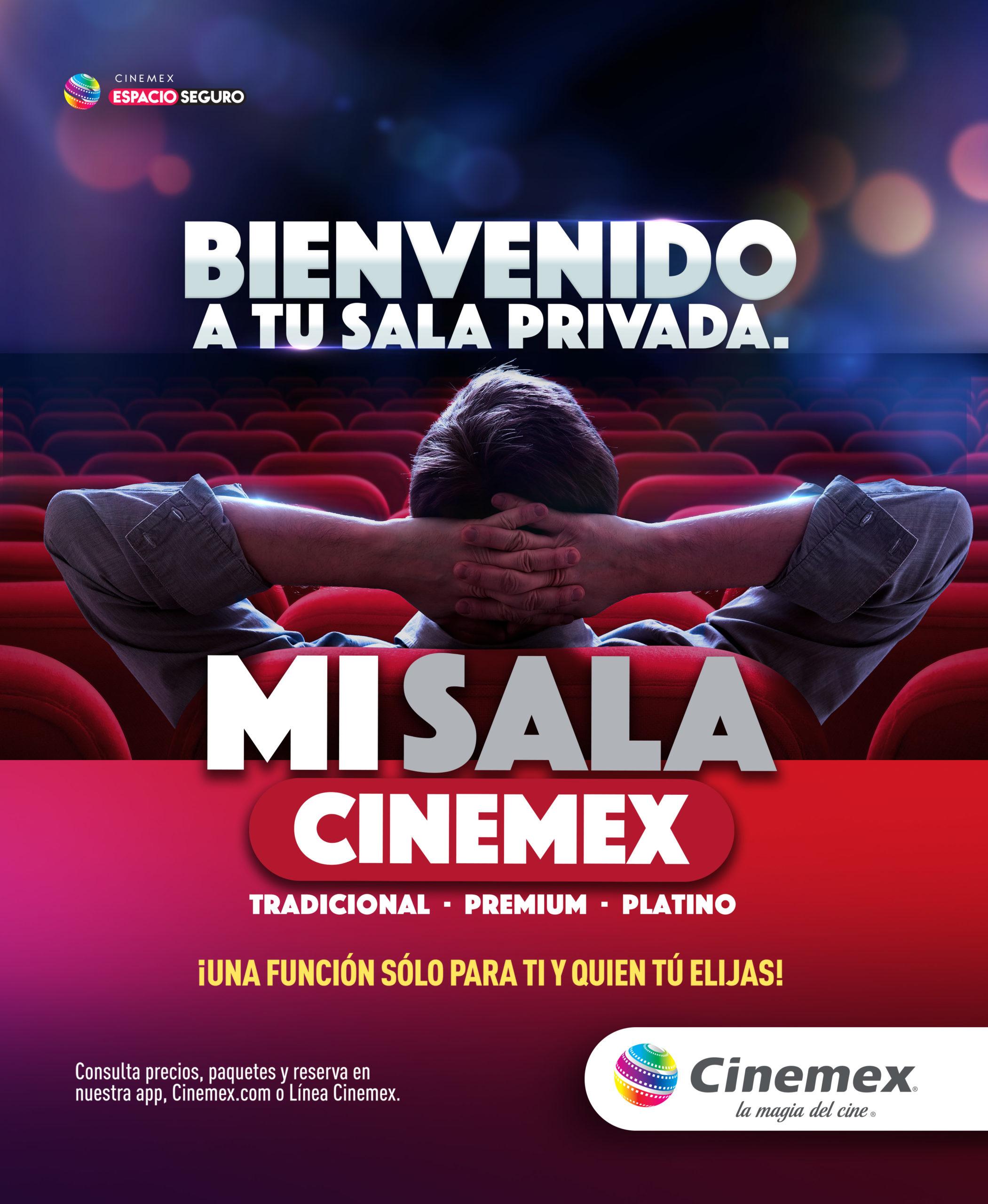 Renta una sala de Cinemex