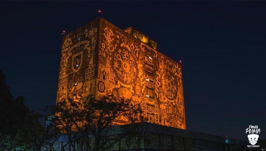 UNAM se pinta de naranja contra violencia de género