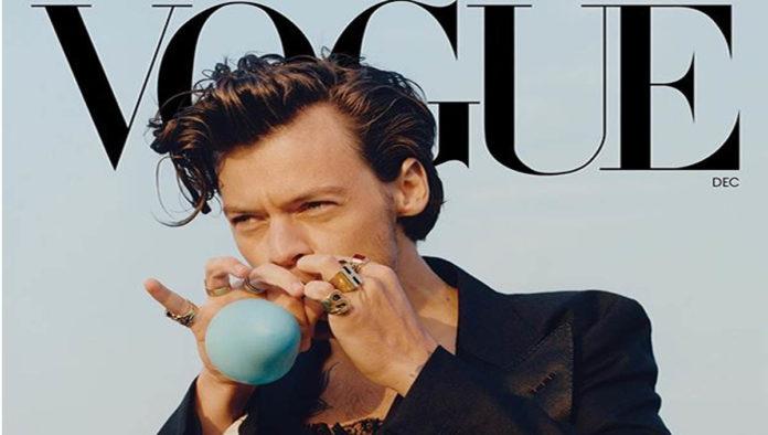 Harry Styles protagoniza portada de Vogue con vestido de Gucci
