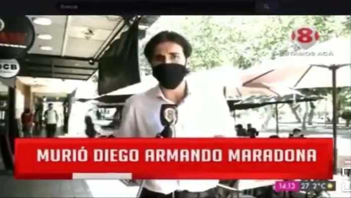 Reportero en Argentina no encuentra fans de Maradona y se vuelve viral