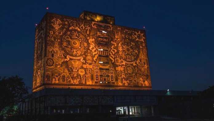 UNAM se pinta de naranja por el Día Internacional de la Eliminación de la Violencia contra la Mujer