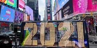 Celebración de Año Nuevo 2021 en Times Square