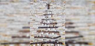 4 ideas para que armes tu propio árbol de Navidad en la pared