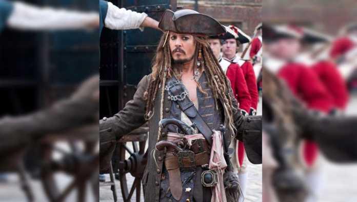 Johnny Depp en su papel de Jack Sparrow