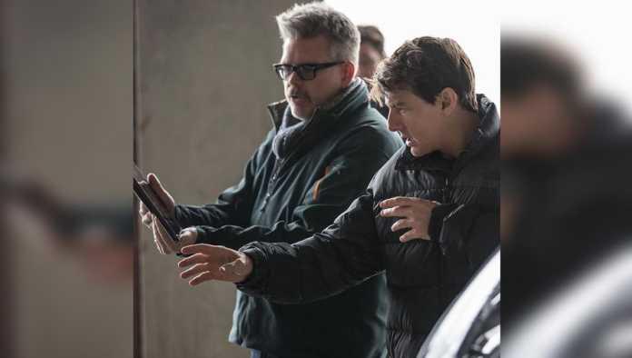 Tom Cruise en el rodaje de Misión Imposible 7