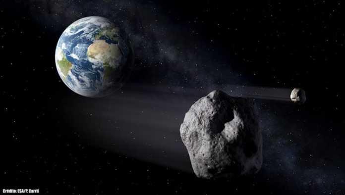 Ilustración del meteorito