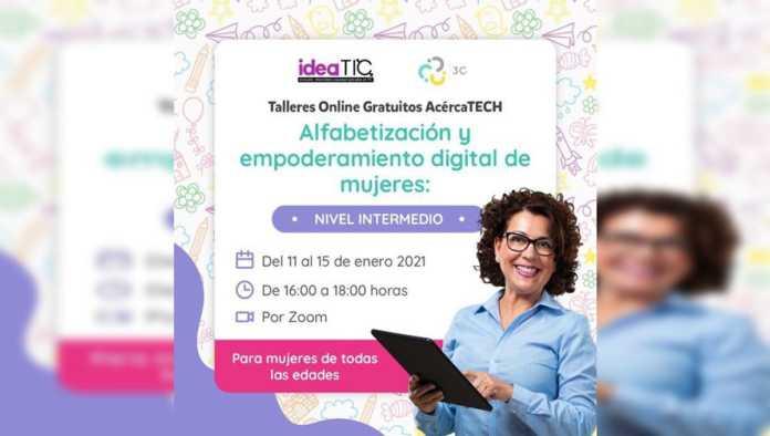 Imagen para promocionar talleres de empoderamiento digital