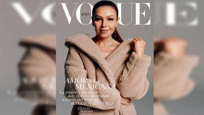 Thalía cumple uno de sus sueños al aparecer en la portada de Vogue