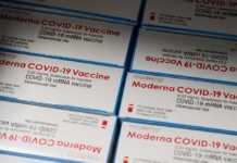 Cajas con la vacuna de Moderna