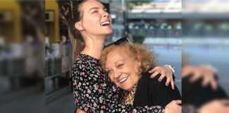 Belinda y su abuela Juana Moreno