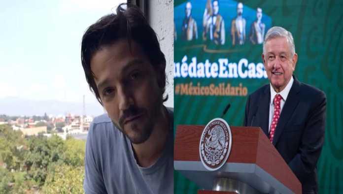 Diego Luna y AMLO