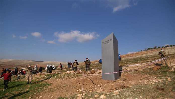 Monolito de metal hallado en Turquía