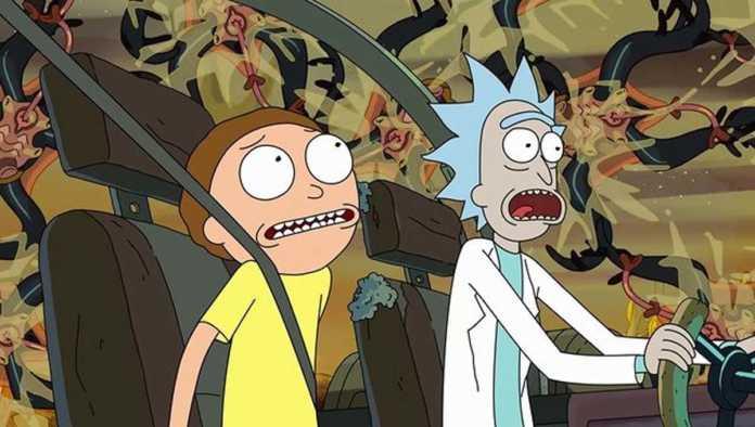 Escena de Rick and Morty