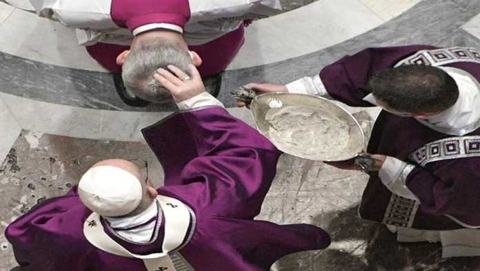 Miércoles de ceniza en el Vaticano