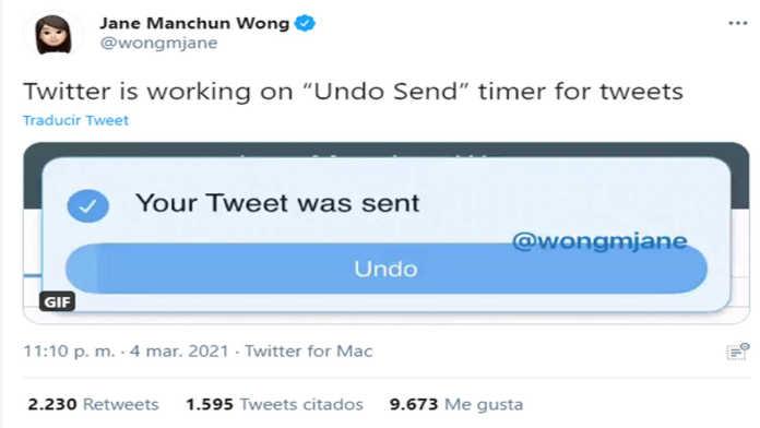 Botón de Undo en Twitter