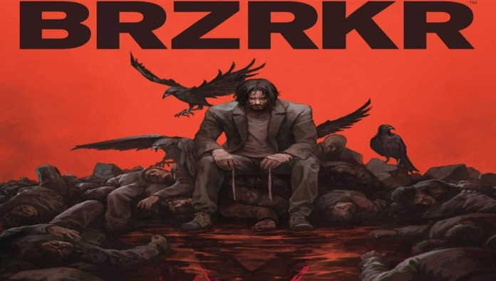 Portada de BRZRKR de Keanu Reeves