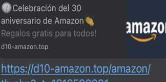 Cadena de WhatsApp sobre Amazon