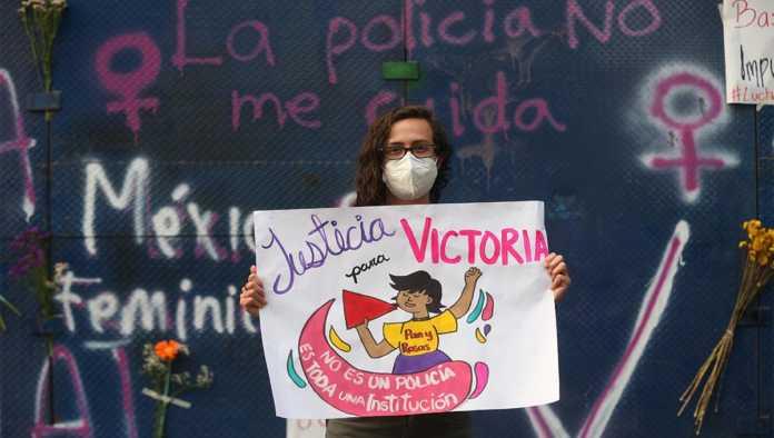 Protesta por el feminicidio de Victoria Salazar