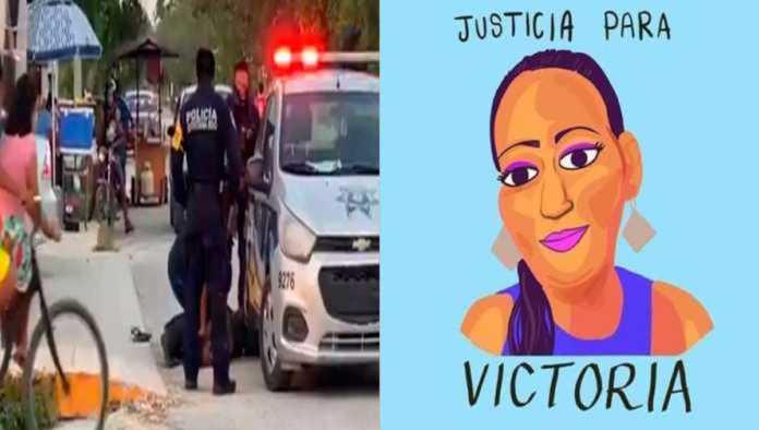 Policía de Tulum y Victoria Salazar