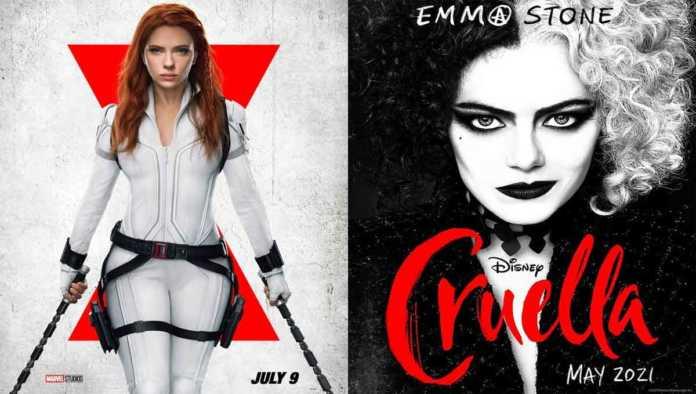 Póster de Black Widow y Cruella