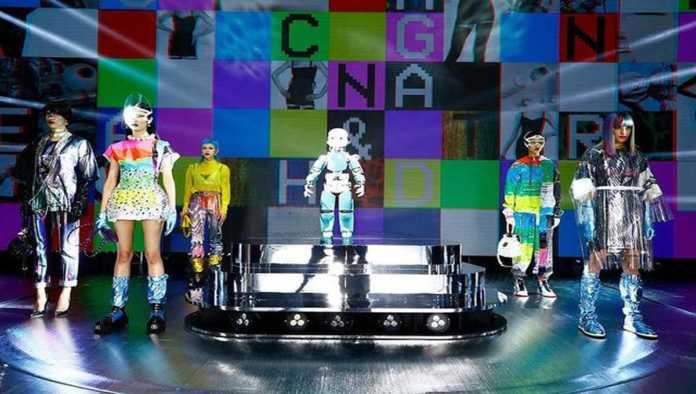 Robot en la pasarela de Dolce & Gabbana