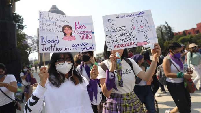 Protestas por los feminicidios de Wendy y Nicole