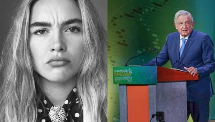 Florence Pugh y López Obrador