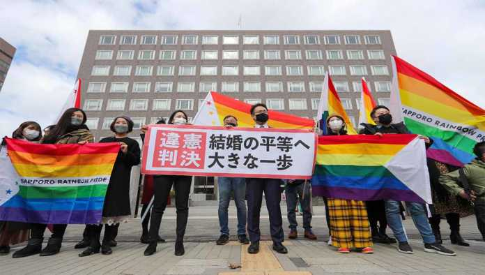 Celebran aval de matrimonios homosexuales en Japón