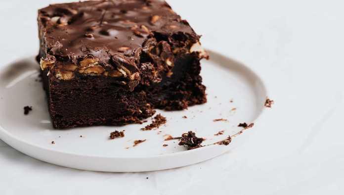 Pastel de chocolate con marihuana