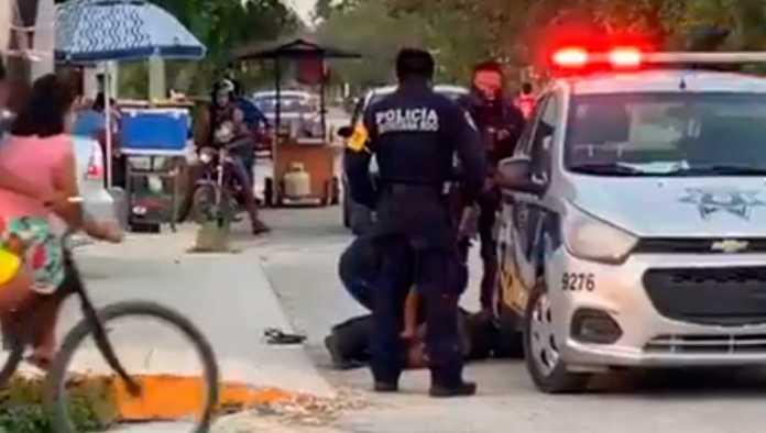 FGE investiga homicidio de mujer que fue sometida por policías de Tulum