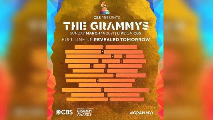 Cartel de artistas para los Grammy 2021