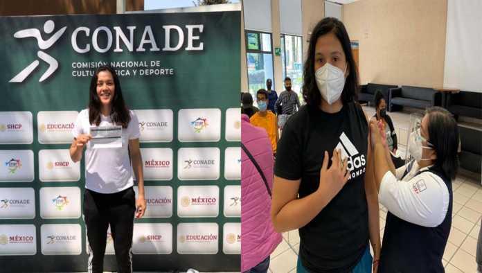 Atletas mexicanos vacunados contra Covid-19