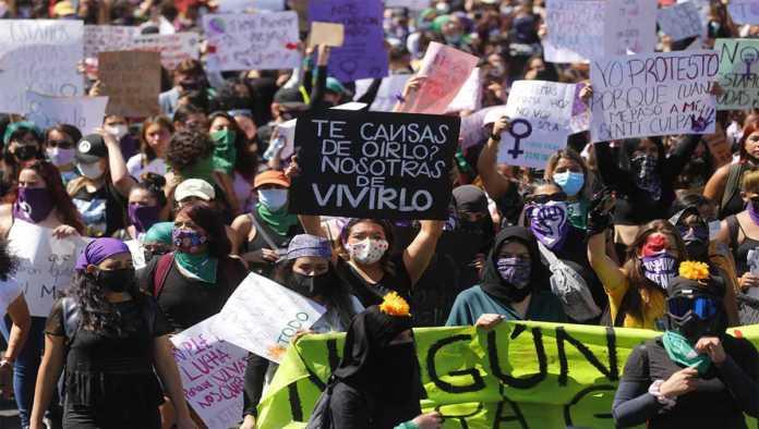 Protesta contra la violencia a las mujeres