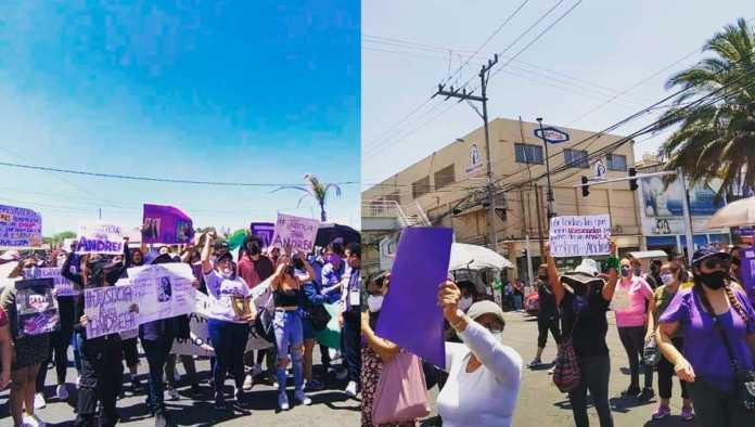 Exigen justicia por feminicidio de Andrea con marcha en Nezahualcoyotl