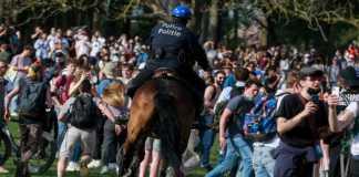 Dispersión de festival clandestino en Bruselas