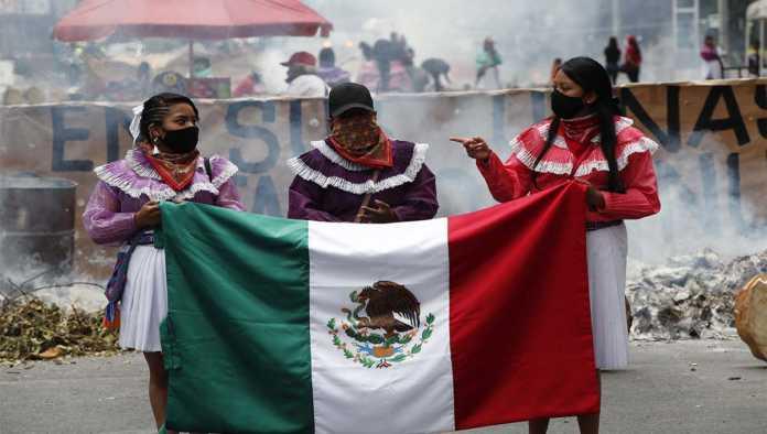 Mujeres indígenas protestan en México