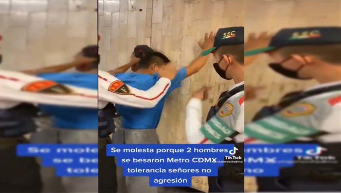 Hombre sacado del Metro por homofobia