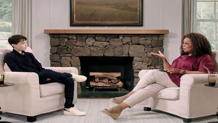 Elliot Page y Oprah Winfrey