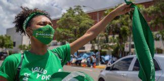Protesta por la despenalización del aborto