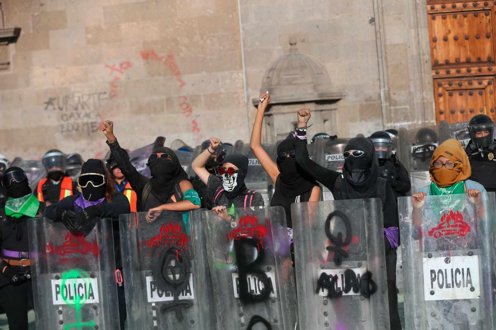 Protesta feminista por el asesinato de Victoria Salazar
