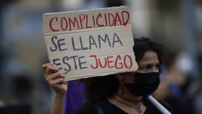 Protesta por violencia contra las mujeres