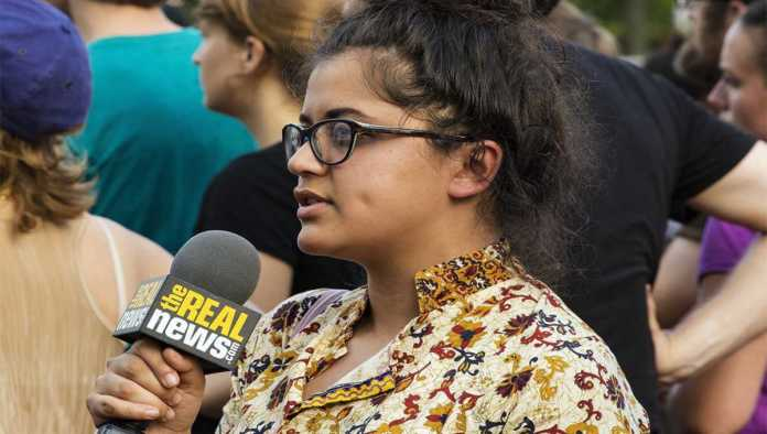 Mujer reportera