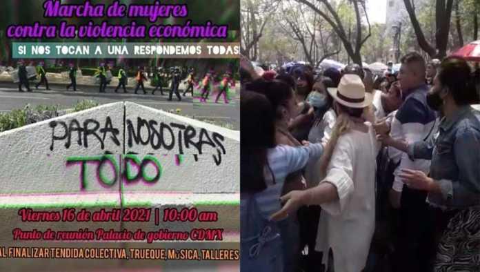 Cartel para protesta por retiro de mercadita del Palacio de Bellas Artes