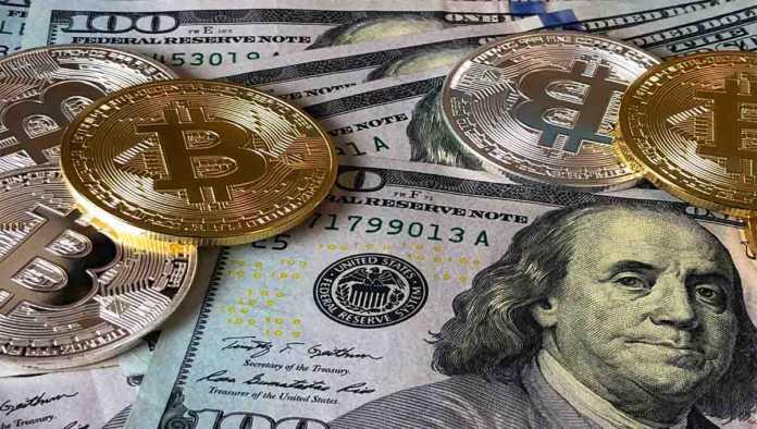Billetes y bitcoins