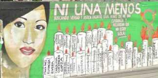 Borran mural de mujer desaparecida
