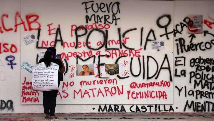 Pintas por el asesinato de Victoria Salazar