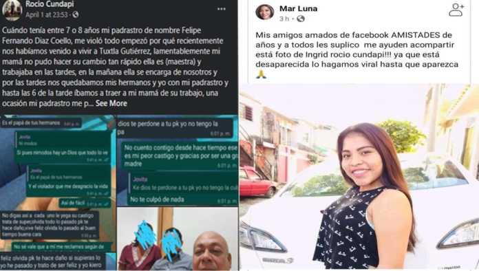 Reportan desaparición de Rocío Cundapi, joven que denunció abusos sexuales de su padrastro