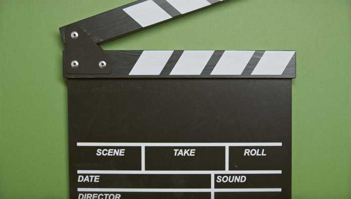 Claqueta usada en producción de cine