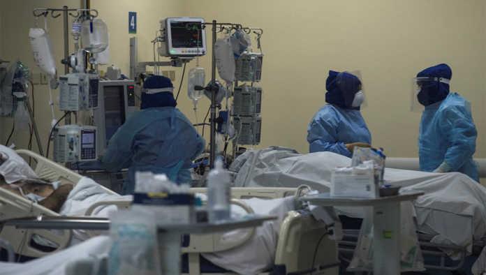 Hospital donde atienden pacientes de COVID-19